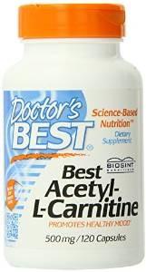 Doctor's Best Best Acetyl L-carnitine Featuring Sigma Tau Carnitine (500 mg)