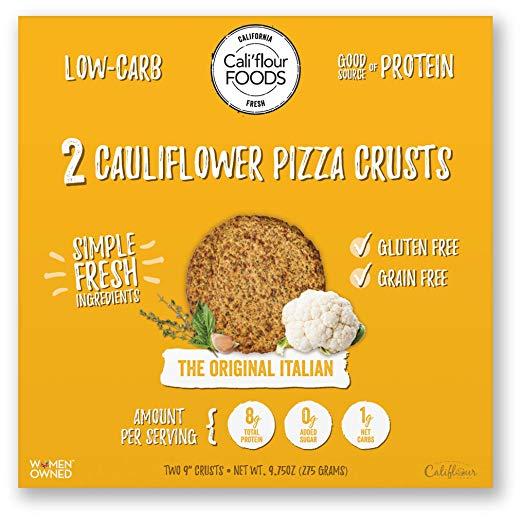 Cauliflower Italian Flatbread Pizza Crusts view