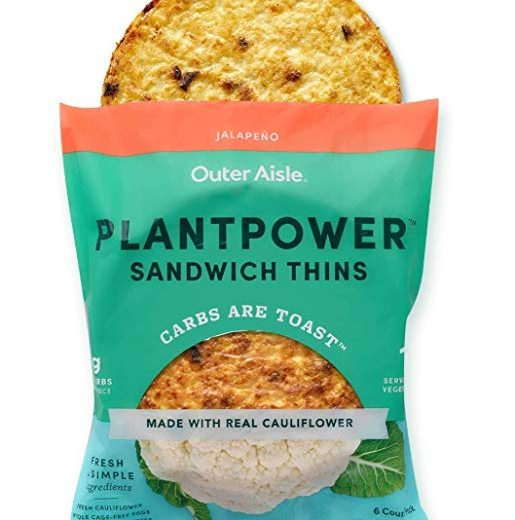 Jalapeno Outer Aisle Cauliflower Plantpower Sandwich Thins