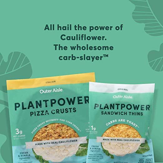 Jalapeno Outer Aisle Cauliflower Plantpower Sandwich Thins img