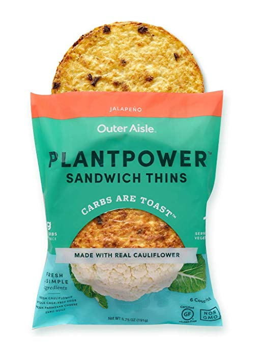 Jalapeno Outer Aisle Cauliflower Plantpower Sandwich Thins
