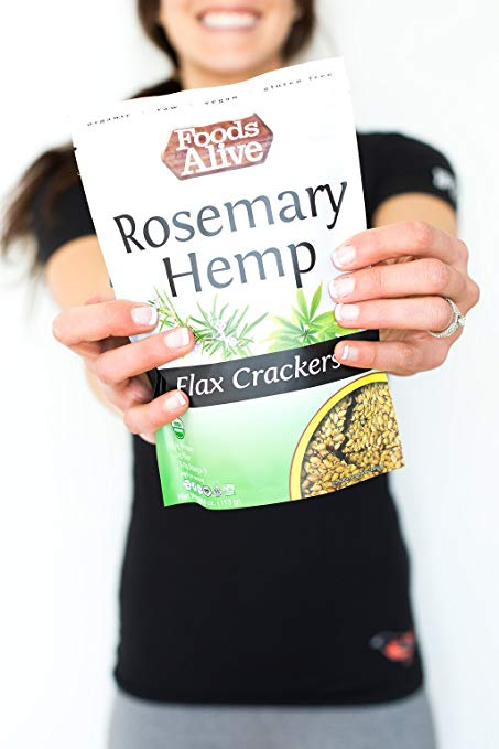 Omega Packed, Organic Rosemary Hemp, Flax Crackers img