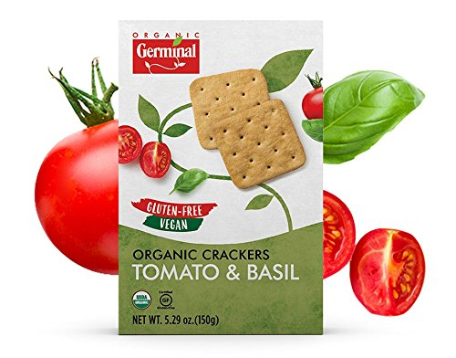 Organic, Calorie Filled, Tomato & Basil Crackers