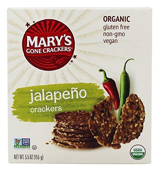 Organic Gluten Free Jalapeno Crackers