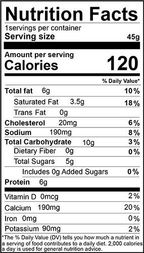 Bagelinos Bun Cheese nutrition facts