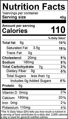 Bagelinos nutrition facts