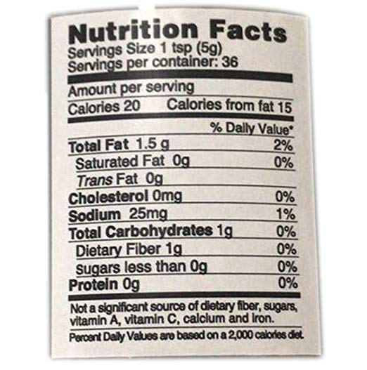Black Truffle Carpaccio nutrition facts