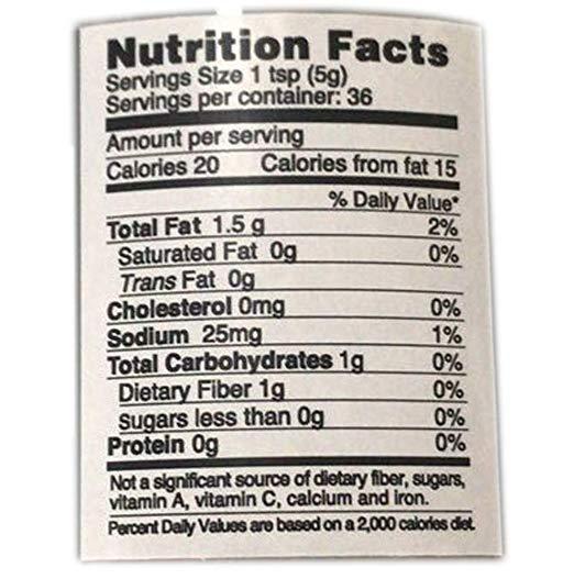 Black Truffle Carpaccio nutrition facts