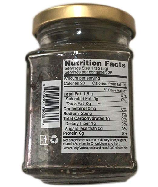 Black truffle sauce nutrition facts