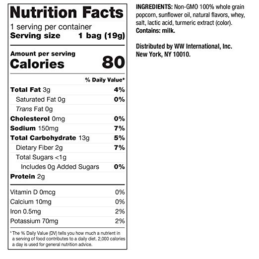 Butter Popcorn nutrition facts