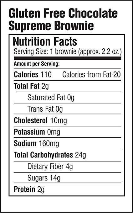 Chocolate Supreme Brownie nutrition facts