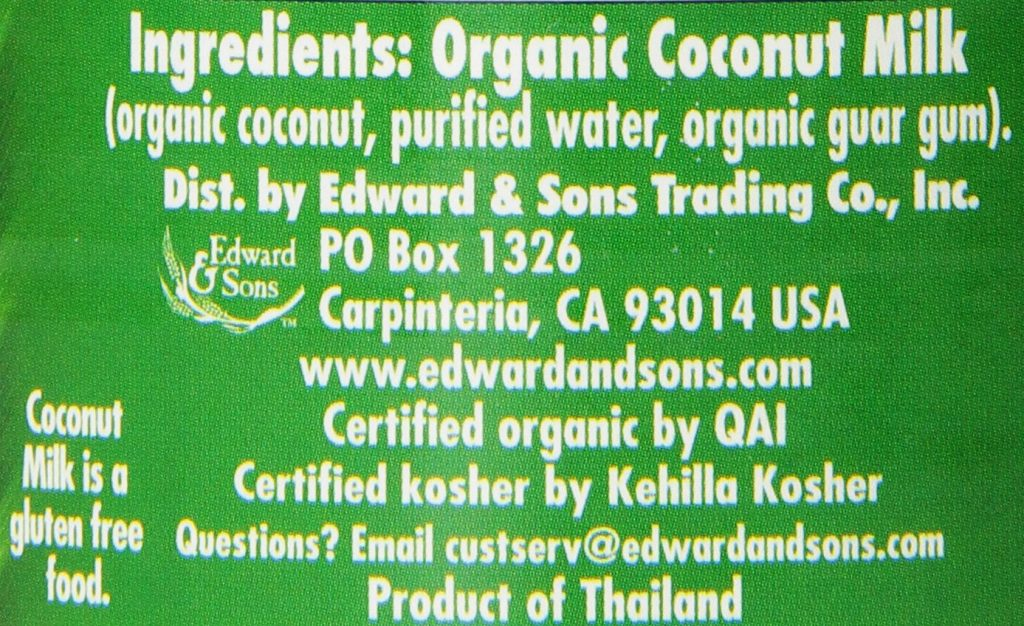 Classic Coconut Milk ing