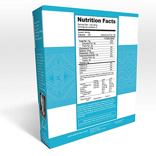 Coconut Cashew nutrition facts