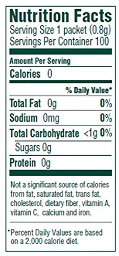 Crystallized True Lime nutrition facts