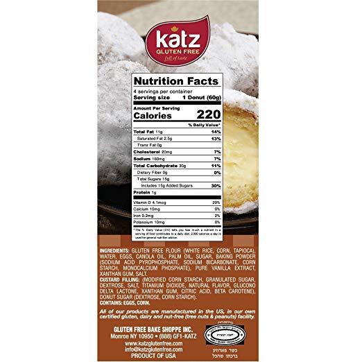 Custard Donuts ingredients