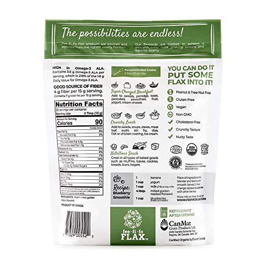 Flax Organic Milled Golden Roasted Flax nutrition facts