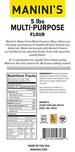 Flour nutrition facts