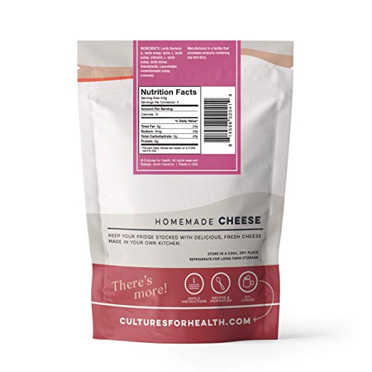 Fresh Cheese Starter Culture nutrition facts