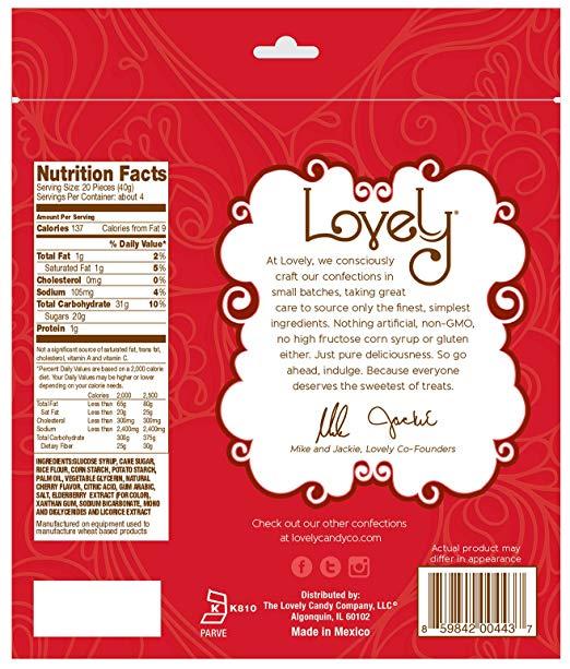 GLUTEN-FREE Cherry Licorice nutrition facts