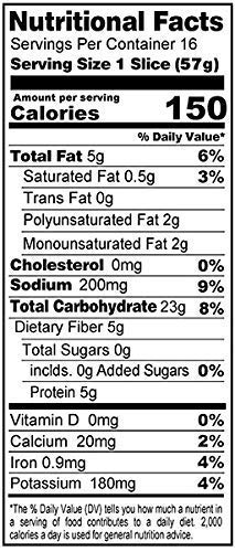 Gluten Free Bread nutrition facts