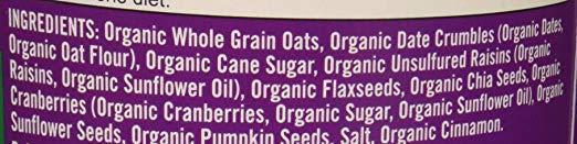 Gluten Free Oatmeal Cup ingri