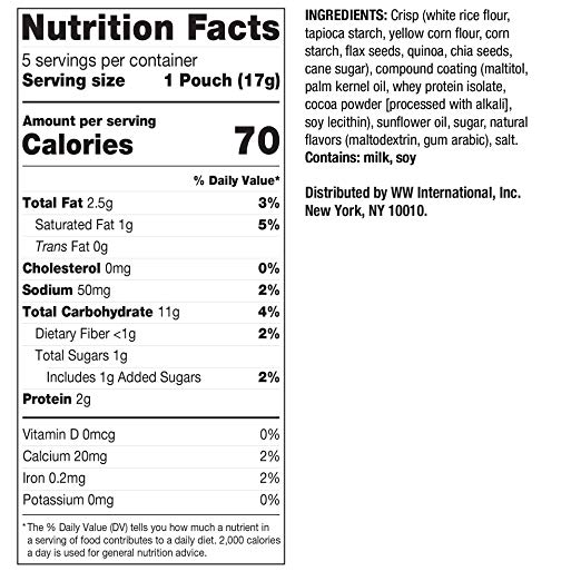 Gluten free Marshmallow Puffs nutrition facts
