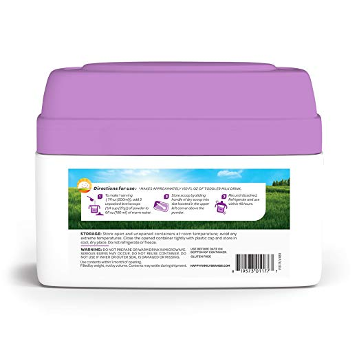 Happy Tot Organic Toddler Development Milk ingredients