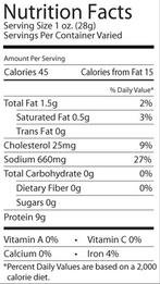 Knauss Dried Beef nutrition facts