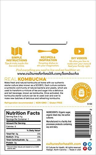 Kombucha Starter Culture nutrition facts