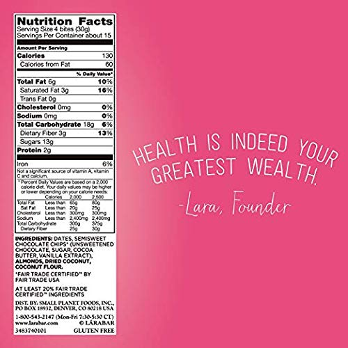 Larabar Bites nutrition facts