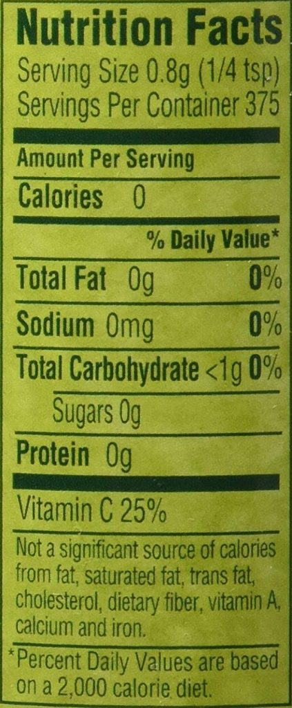 Lime Shaker nutrition facts