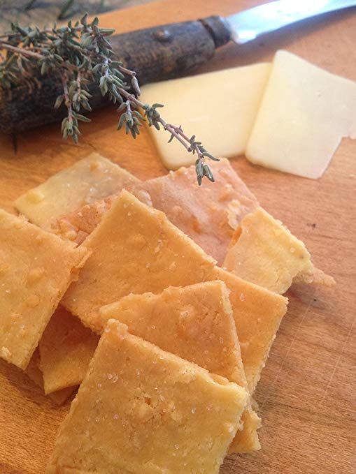 Low Carb Cheddar Crackers image