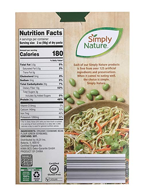 Organic Edamame Spaghetti details