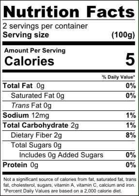 Organic Well Lean Variety nutrition facts