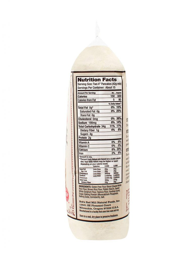 Red Mill Pancake Mix nutrition facts