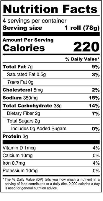 Sandwich Rolls nutrition facts