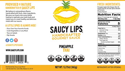 Saucy Lips nutrition facts