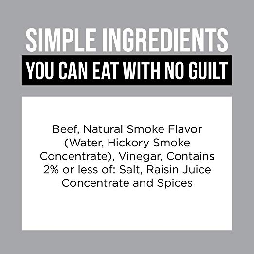 Stryve Biltong Snack ingredients