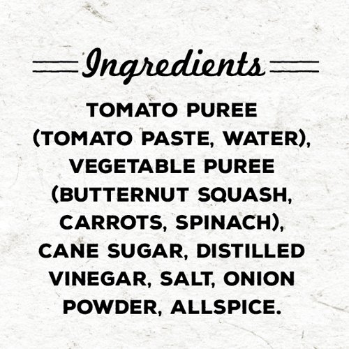 Vegetable Ketchup ingredients