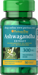 Puritan's Pride Free Shipping on any order Ashwagandha Standardized Extract 300 mg