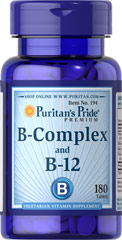 Puritan's Pride Vitamin B-Complex and Vitamin B12 Energy Pills