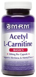 MRM Acetyl L-carnitine 500mg Per Capsule