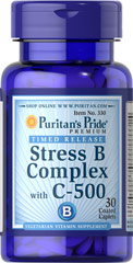 Puritan's Pride Stress Vitamin B-Complex with Vitamin C-500 Timed Release For Energy and Memory