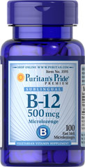 Puritan's Pride Vitamin B12 Supplement 500 mcg sublingual