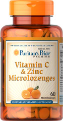 Puritan's Pride Vitamin C & Zinc Microlozenges