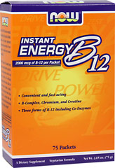 Now Foods Vitamin B-12 Supplement 2000 mcg Instant Energy Packets